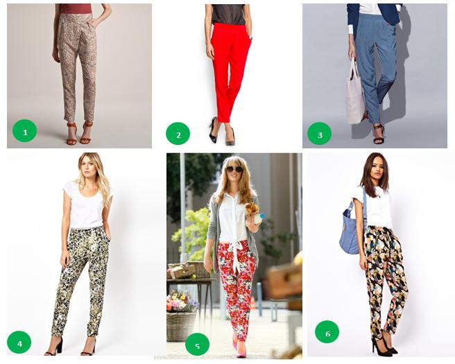 Pantaloni cu imprimeu